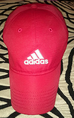 Adidas Baseball Cap Climalite Golf ⛳ 100% Polyester - Red