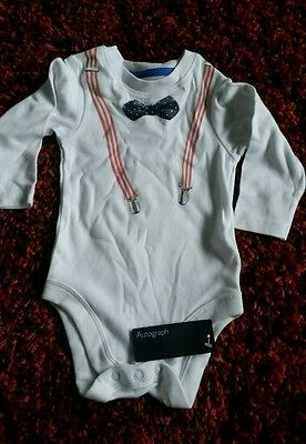 BNWT baby boys bodysuit long sleeve marks and spencers 9-12 months