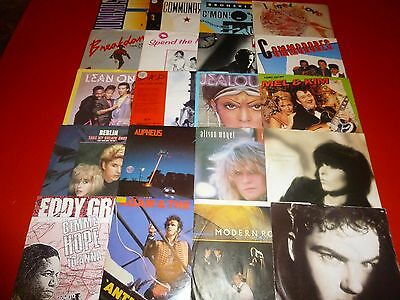 Job Lot 7'' Records X 20 * 7'' Vinyl Singles From 1980S See Pics For Details