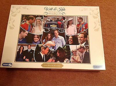 Gibsons 1000 piece jigsaw puzzle Will & Kate and the Royal Baby