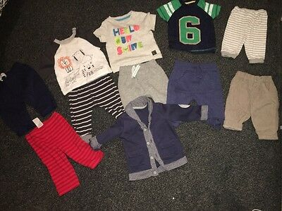 Baby Boys Bundle Of Mixed Size Clothing 7 Bottoms 3 Tops And 1 Jacket Size 0-9