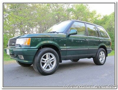 2001 Land Rover Range Rover HSE 30th ANNIVERSARY EDITION 2001 LAND ROVER RANGE ROVER 30th ANNIVERSARY EDITION 111,736 Original Miles