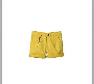 Bonpoint Girls' Yellow Cotton Shorts 10 Years Old