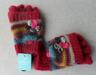 Girls Brand New Fingerless Gloves With Flaps by MONSOON