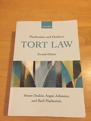 Markesinis And Deakin's Tort Law, Seventh Edition