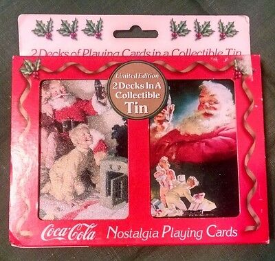 Coke - Coca Cola 1996 Tin With Playing Cards