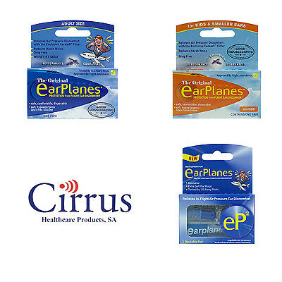 Flying EarPlanes Adult ,Kids Earplugs -Cirrus Healthcare Ear Plugs