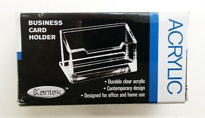 Kantek AD30 Acrylic Business Card Holder Fits 80 Business Cards Clear
