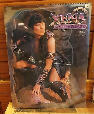 "Xena Warrior Princess 1999 Over Sized Calendar 18"" X 24"" In Plastic Lucy Lawless"