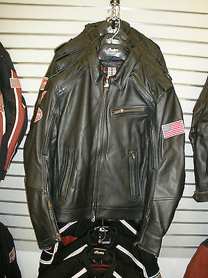 Men's Indian Motorcycle Throttle Leather Jacket / Large / NWT **CLOSEOUT**