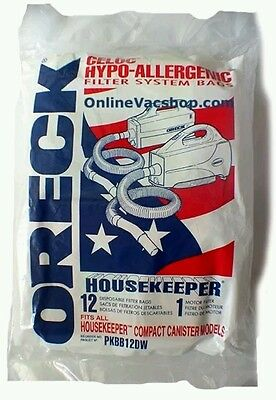 Genuine Oreck XL Buster B Canister Vacuum Bags PKBB12DW Housekeeper 12 Pack