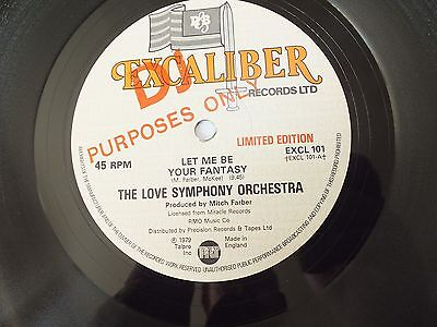 "The Love Symphony Orchestra- Let Me Be Your Fantasy 12""  Single               25"