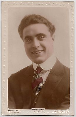 POSTCARD - American silent movie actor George Walsh, real photo, Lilywhite