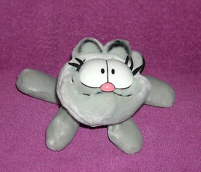 "PAWS Garfield 1978 Fine Toy Co 6"" PLUSH Grey/Black Nemesis CAT *NERMAL* ~ CUTE !"