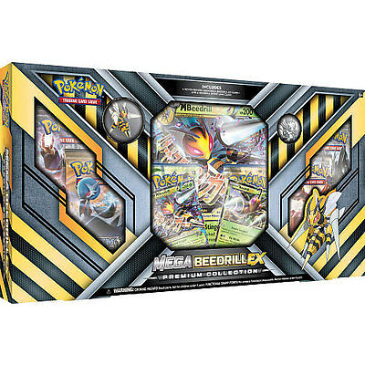 POKEMON Mega Beedril EX Box, 6 Booster Packs, 2 Foils, and much more POMEBEEXBX