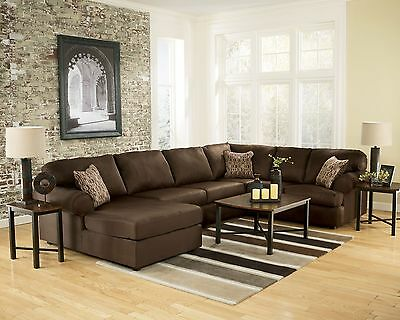 Chocolate Microfiber Living Room Set - Euskal.Net
