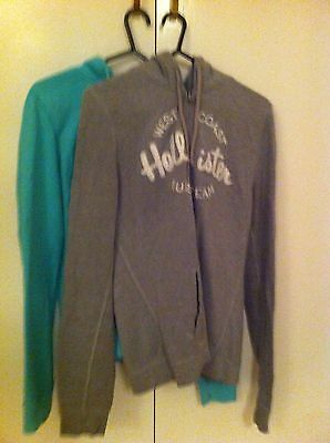 Hollister Girls Hoodies Size Medium (2 off) Grey and Green