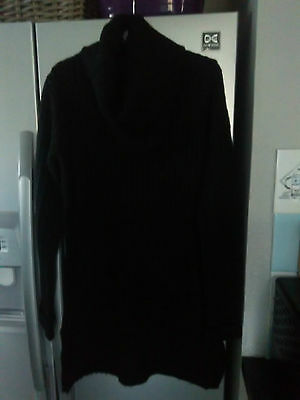 milla black cowl neck long  jumper   size S  new