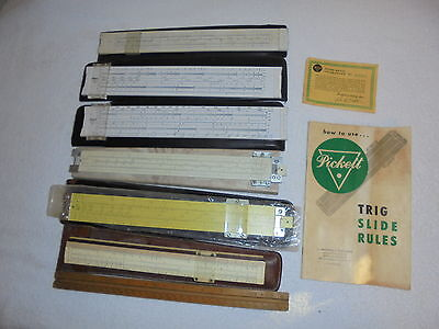 Vintage SLIDE RULE assortment Picket / K & E