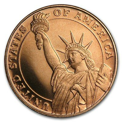 2 x 1/4 oz Copper Statue of Liberty Coin / Round - Golden State Mint