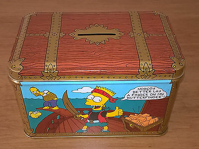 Vintage 1992 The Simpsons Butterfinger Bank Collectible Tin Metal Bank