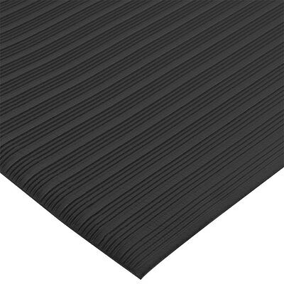 "San Jamar KM4360BK 3ft x 60ft Sponge Floor Runner 3/8"" Thick Vinyl Black"