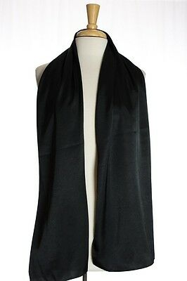 NWT Black Satin Scarf | Kabayare Fashion | Hijab, Modest, Rectangle, Turkish