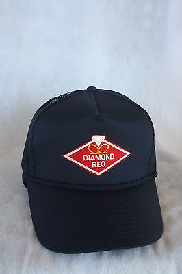 Diamond Reo Truck Hat With Embroidery Patch Adjustable Sizing Color ( Black )