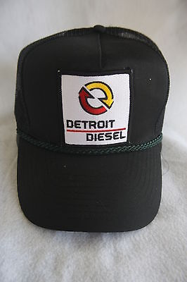 DETROIT DIESEL TRUCKER HAT, WITH PATCH  ( ADJUSTABLE Sizing,COLOR DARK GREEN