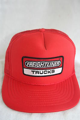 Freightliner  Truckers Hat With Embroidery Patch Adjustable Sizing   Red