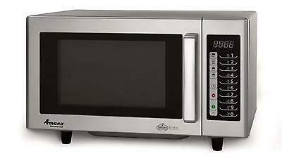 Amana 1000W Commercial Microwave Oven S/s Interior Low Volume - Rms10Ts