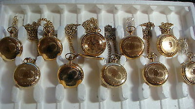 TRADE ONLY JOB LOT OF 10 X HERITAGE TIME  Pocket Watch  WATCHES 100%. GEN ...