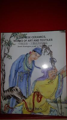 Christie' Auction Catalogue Chinese ceramics works of art and textiles
