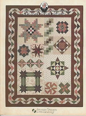 LESSONS FROM MAMA Atkinson Designs Quilting PATTERN Book ©2000