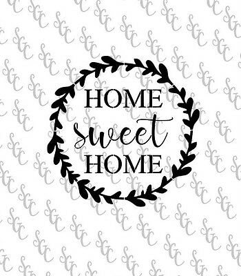 Reusable Stencil - Home Sweet Home - Many Sizes to Choose from!
