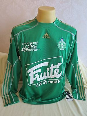 Saint Etienne Football Shirt Home 2009 2010 Long Sleeve Player Issue Rare L New
