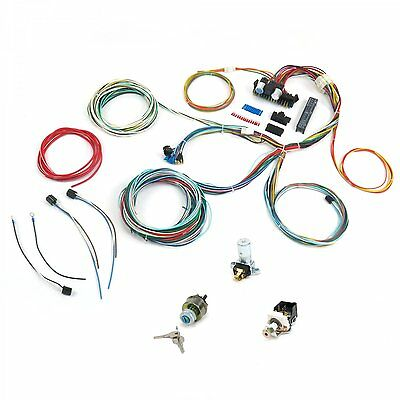 NEW 21 Circuit EZ Wiring Harness CHEVY MOPAR FORD Hotrods UNIVERSAL X-long Wires