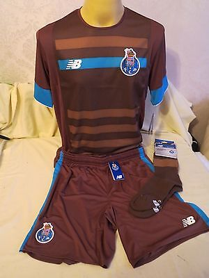 Fc Porto Football Shirt Short Sock Away 2015 2016 Full Kits Brown New Balance L