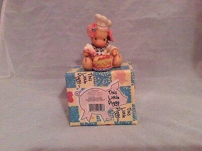 Collectible by Enesco, This Little Piggy, Bacon a cake, 1994 by Marry Rhyner, NI