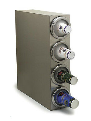 Carlisle Vertical Stainless Cup Dispenser Cabinet - 4 Dispensers - 38884G