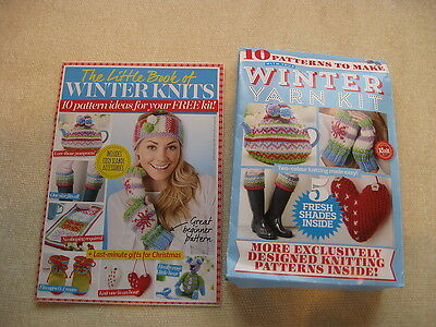 Winter Knits Knitting Kit with 10 Patterns in Pattern Book