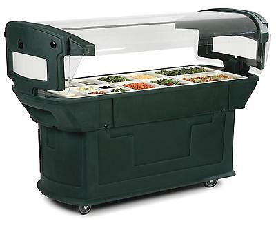Carlisle 7711 6ft Maximizer Food Salad Bar Holds 6 Full Size Food Pans