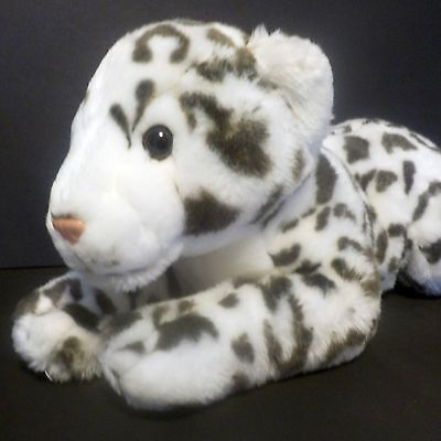 """White Tiger Plush 17"""" Long Animal Alley - Spotted Leopard"""