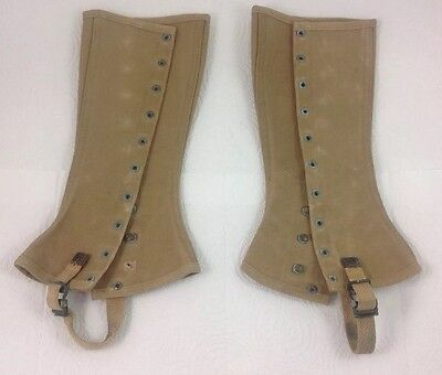 1942 WW2 US Army or Marine Corps Canvas Leggings Gaiters Size 3 Military