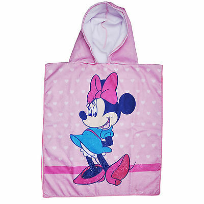 Disney Minnie Mouse Girls Pink Hooded Towel Poncho