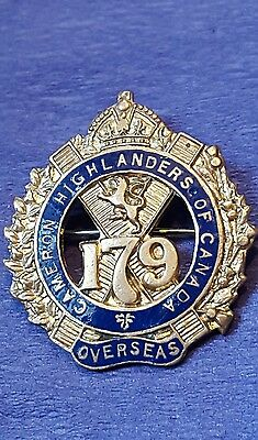 179th Infantry Battalion Sweetheart Pin Cameron Highlanders Of Canada