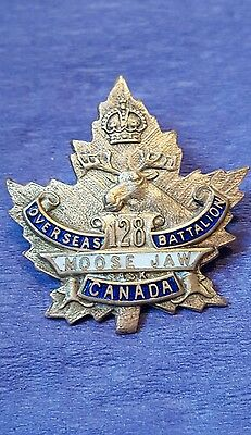 128th Infantry Battalion Sweetheart Pin Moose Jaw