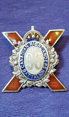 96th Infantry Battalion Sweetheart Pin Canadian Highlanders