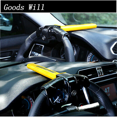 Universal Auto Car Anti-Theft  Security Rotary Steering Wheel Lock Latest