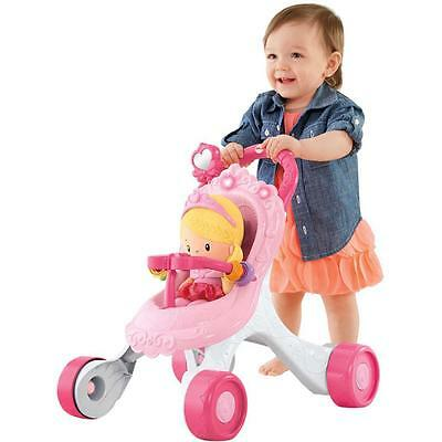 Fisher Price Princess Mummy Gift Set Stroll-Along Walker & Babys First Doll